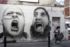 Artist Ben Slow - in East London