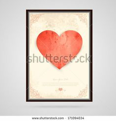 Happy Valentine's day card , and vintage background , heart, vintage, Happy Valentines Day Card, Abstract Images, Background Vintage, Royalty Free Stock Photos, Heart, Frame, Illustration, Cards, Pictures