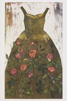 Isot Dress Painting, Painting & Drawing, Naive, Ink In Water, Artist Portfolio, Printmaking, Fashion Art, Illustrators, Designer