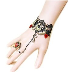 Lace Bracelet, Ring Bracelet, Bracelets, Angle Wings, Skull, Key, Crystals, Amazon, Rings