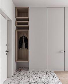 Nordic Interior, Minimalist Interior, Apartment Interior, Home Interior Design, Interior Architecture, Shoe Cabinet Design, Door Design, Cabinet Dimensions, Indoor Doors