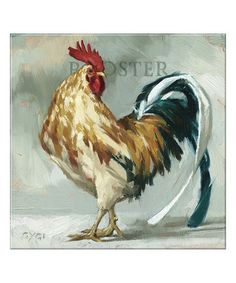 This Rooster Giclee Canvas is perfect! #zulilyfinds