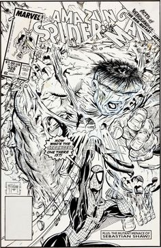 Todd McFarlane The Amazing Spider-Man Cover Original Art (Marvel, Spidey demonstrates his awesome - Available at 2012 July Vintage Comics. Comic Book Pages, Comic Book Artists, Comic Book Covers, Comic Artist, Action Comics, Dc Comics, Star Comics, Amazing Spiderman, Art Spiderman