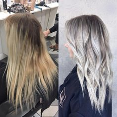 Hottest No Cost Balayage hair blonde icy Tips Summer's in route! Along with our feelings consider smarter, light, far more attractive in additio Silver Blonde Hair, Blonde Hair Looks, Icy Blonde, Balayage Hair Blonde, Platinum Blonde Hair, Blonde Grise, Bobs, Hair Makeup, Hair Beauty