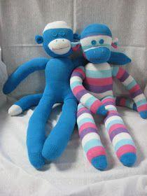 Let's make cute Sock Monkeys! Supplies: Socks. For these monkeys I used regular women's socks (not knee highs, they are too long) I b...