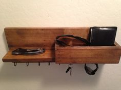 Hand Crafted Key Hook Wall Organizer
