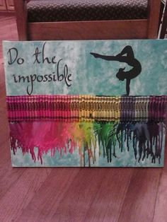 Gymnastics Melted Crayon Art..... LOVE ♥