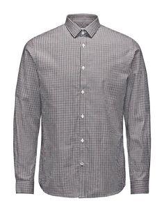 PREMIUM by JACK & JONES - Langärmeliges Hemd von PREMIUM - Slim fit - Standardkragen - Knopfblende - Verstellbare Knopf-Manschetten - Gerundeter Schnitt - Das Modell trägt Größe L und ist 187 cm groß 100% Baumwolle...