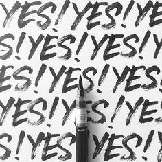 Yes! It's Friday! #christopherrouleaulettering #handlettering #handtype #customtype #type #typography #lettering #brushlettering #brushalphabet #handstyle #handwriting #freehand #handmadefont #ligaturesyyz #calligritype #thedailytype #typegang #goodtype #typespire #strengthinletters #typeeverything #typematters #pentelcolorbrush