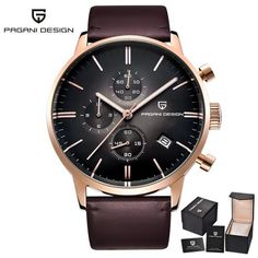 PAGANI DESIGN Top luxury brand waterproof quartz watch Men's casual leather clock sports fashion men's watch Relogios Masculino