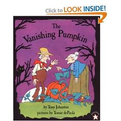 A 700 year old woman and an 800 year old man go looking for their missing pumpkin.  An excellent Halloween read!