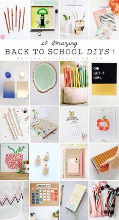 20 Amazing Back to School organization DIYs, perfect ideas from grade school to college and/or your home! These crafts would also make great gifts. Delineateyourdwelling.com