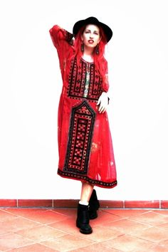 Elizabeth the First Tribal Couture Afghani dress