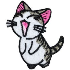 Chi's Sweet Home Patch Embroidered Cat Cartoon Iron on Patch Cute... ($2.21) ❤ liked on Polyvore featuring home, home decor, cat home decor and iron home decor