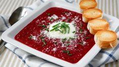 Polévka z červené řepy s balzamikovým octem Foto: