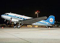 Dutch Dakota Association Douglas DC-3 PH-PBA aircraft, parked at Germany Stuttgart  International Airport. 04/06/2013.