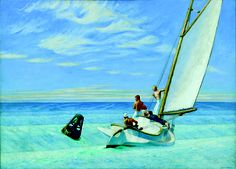 Edward Hopper Ground Swell painting for sale - Edward Hopper Ground Swell is handmade art reproduction; You can shop Edward Hopper Ground Swell painting on canvas or frame. National Gallery Of Art, Art Gallery, Edouard Hopper, Edward Hopper Paintings, Carl Spitzweg, Simple Oil Painting, Painting Art, Painting Edges, Watercolor Paintings