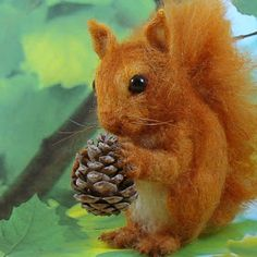 Needle Felted Art by Robin Joy Andreae: Squirrel Nutkin