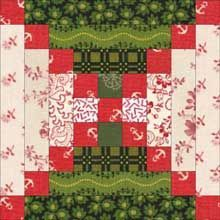 Chimneys and Cornerstones Quilt Pattern: A Log Cabin Quilt Design Variation