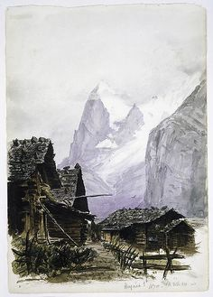 "John Singer Sargent (American, 1856–1925). Eiger from Mürren (from ""Splendid Mountain Watercolours"" Sketchbook), August 3, 1870. The Metropolitan Museum of Art, New York. Gift of Mrs. Francis Ormond, 1950 (50.130.146oo recto)"