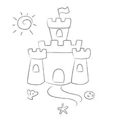 Sandcastle Drawing Related Keywords & Suggestions