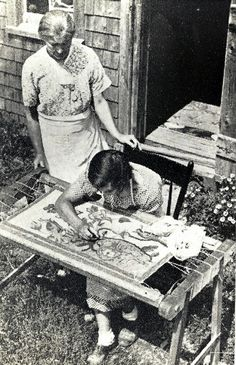 rug hooking back in the old days---my next project to learn