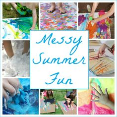 Awesomely Messy Play for Kids to Try this Summer