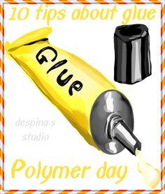 despina's studio: Πολυμερικός πηλός : τα μυστικά της κόλλας - Polymer day : 10 tips about adhesive