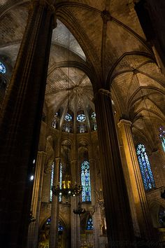 """""""Gothic cathedral of Barcelona"""" by Hayder Alsahaf, via 500px."""