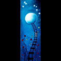 Fantasy Art Original Painting - Night Lights by Jaime Best (SOLD)