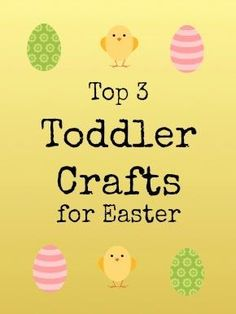 #Easter #Toddler Craft Super simple but fun and pretty ideas to make with the littlies.