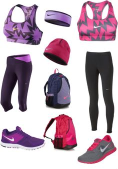 """Nike Running Buddies"" by devynwilson55 ❤ liked on Polyvore"