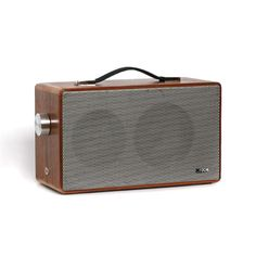 Tombox is a line of portable speakers produced in Germany. They look retro because they are—each speaker is an actual loudspeaker of yore, cleaned and repurposed for use with modern technology.