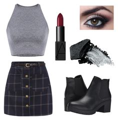 """""""Untitled #11"""" by molly-wendelius ❤ liked on Polyvore featuring Steve Madden, NARS Cosmetics and Gorgeous Cosmetics"""