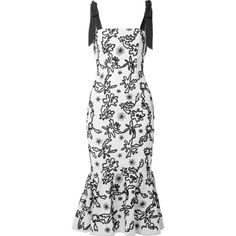 Rachel Zoe Lily embroidered cotton-gauze midi dress (11.272.650 VND) ❤ liked on Polyvore featuring dresses, white dress, white color dress, midi dress, white colour dress and calf length dresses