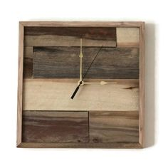 "Square Pallet Wood ClockI am in love with this new creation made by my husband. From pallet wood to beautiful one of a kind wall clock. Square wood clock - 13"" x 13"" x 1 3/8""."