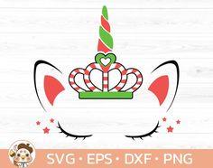 Unicorn candy cane svg Christmas Unicorn SvgEyelashes | Etsy