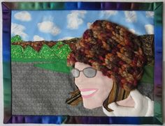 #crochet fiber self portrait by reve dreams - love!