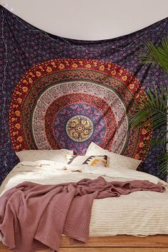 Plum & Bow Medallion Tapestry