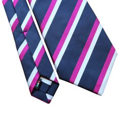 Pheobes  Dee Walwyn Seven Fold Tie in Blue with Pink and White accents. All our ties are  handmade in Italy #sevenfoldtie #menswear #style #gentleman