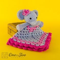 Elephant Security Blanket Crochet Pattern Kaitlyn exactly like this I <3 this for my baby girl :)) well try your best and ill try my hardest on yours :))