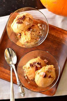 Pumpkin Maple Pecan Bourbon Ice Cream (Vegan)