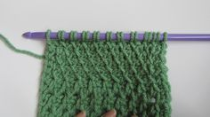 Part 8 - Slanted Fabric Tunisian Stitch