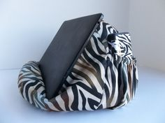 Great Christmas gift idea! A bean bag chair for an iPad or other tablet. Has a pocket for a cell phone and stylus too!