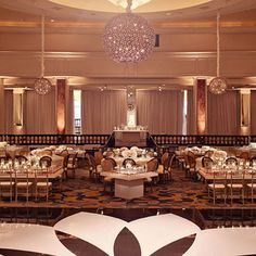 Inside the ballroom of the Beverly Wilshire, event designers mixed rectangular, circular and square tables and crafted five distinct tablescapes to give each setting a unique personality.