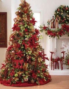 LUXURY CLIP ON WIRED CHRISTMAS TREE BOW NATURAL TARTAN RED GREEN SNOWFAKE