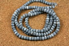 Blue Sponge Coral Rondelle Beads  Smooth Matte Beads by ABOSBeads, $11.99