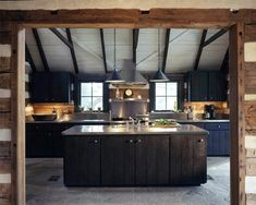 Mesmerizing Rustic Kitchen Design With Light Brown Colored Wooden Pergola And Dark Brown Kitchen Island With Black Reclaimed Wood Kitchen Cabinets Outdoor Kitchen Countertops, Stainless Steel Countertops, Wood Kitchen Cabinets, Stainless Steel Kitchen, Kitchen Flooring, Dark Cabinets, Kitchen Counters, Wood Countertops, Rustic Cabinets