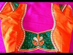 creative bridals wear blouse designs for pattu fancy sarees - YouTube