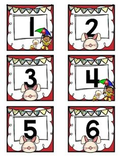 April Calendar Number Cardsabb pattern